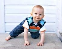 愉快的男婴 库存图片