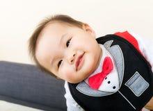 愉快的男婴 免版税图库摄影
