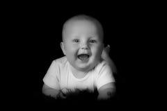 愉快的男婴 图库摄影