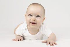愉快的男婴 免版税库存照片