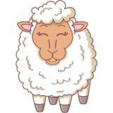 愉快的白羊 免版税库存图片