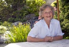 愉快的祖母 免版税库存图片