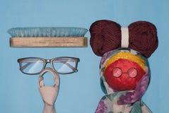 愉快的祖父母天、祖父母的玩具和标志 免版税库存照片