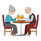 愉快的祖父母饮料啤酒 库存照片
