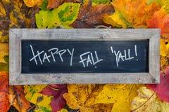 愉快的秋天板岩 库存图片