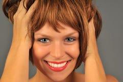 愉快的红头发人 免版税库存照片