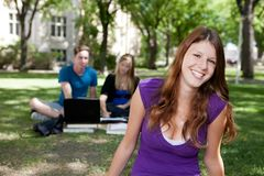 愉快的纵向微笑的学员 免版税图库摄影