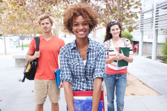 愉快的组大学生 免版税库存照片