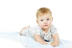 愉快的美丽的婴孩 库存图片