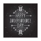 愉快的美国独立日卡片 库存照片