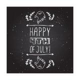 愉快的美国独立日卡片 免版税库存图片