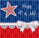 愉快的美国独立日! 库存例证