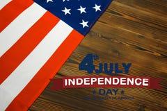 愉快的美国独立纪念日美国旗子-图象 库存图片