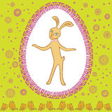 愉快的葡萄酒复活节兔子 库存照片