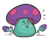 愉快的蘑菇 皇族释放例证