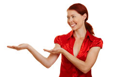 愉快的虚构的显示的妇女 免版税库存图片