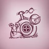 愉快的蜗牛。 库存图片