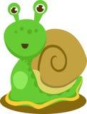 以愉快的蜗牛为特色的例证 库存照片