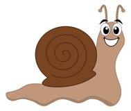愉快的蜗牛褐色 免版税库存图片