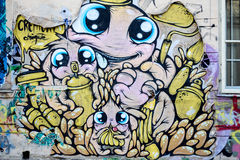 愉快的街道艺术布加勒斯特 库存图片