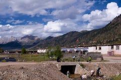 愉快的西藏人 免版税库存图片