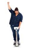 妇女失去的重量 免版税图库摄影