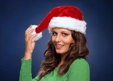 愉快的辅助工圣诞老人 免版税库存图片