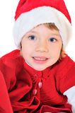 愉快的辅助工圣诞老人 库存照片