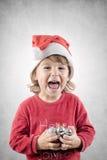 愉快的辅助工圣诞老人 免版税图库摄影