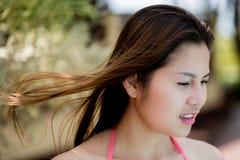 愉快的迷人的泰国妇女画象  图库摄影