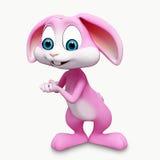愉快的逗人喜爱的兔宝宝 免版税库存图片