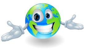 愉快的逗人喜爱的地球字符 库存照片