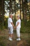 愉快的长辈夫妇 图库摄影