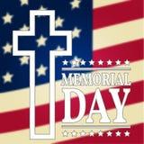 愉快的阵亡将士纪念日背景模板 愉快的阵亡将士纪念日海报 美国国旗 爱国的横幅 图库摄影
