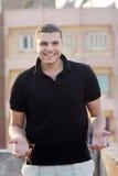 愉快的阿拉伯埃及年轻商人 免版税库存图片