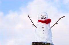 愉快的雪人 免版税库存照片