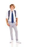 愉快的青少年的男孩 免版税库存照片