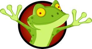 愉快的青蛙动画片 免版税图库摄影