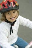 愉快的骑自行车的人 免版税库存照片