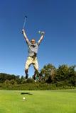 愉快的高尔夫球运动员 免版税库存照片