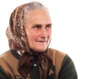 愉快的高级妇女 免版税库存照片
