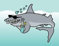 愉快的鲨鱼 免版税库存照片