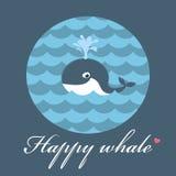 愉快的鲸鱼 库存照片