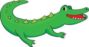 愉快的鳄鱼 向量例证