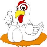 愉快的鸡以蛋OK 免版税库存照片