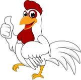 愉快的鸡 库存图片