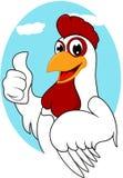 愉快的鸡 免版税库存图片
