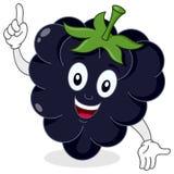 愉快的黑莓或桑树字符 免版税库存图片