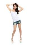 愉快的年轻亚裔女孩 库存照片