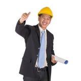 愉快的年轻亚裔工程师 库存照片